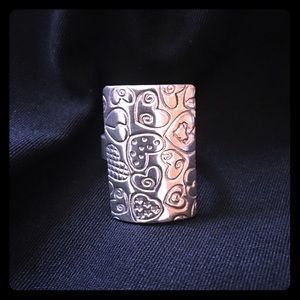 Jewelry - Sterling Silver Ring with hearts